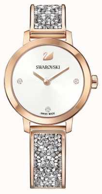 Swarovski | roccia cosmica | bracciale bangle in oro rosa | quadrante bianco | 5376092