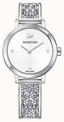 Swarovski | roccia cosmica | bracciale bangle in acciaio inossidabile quadrante bianco 5376080