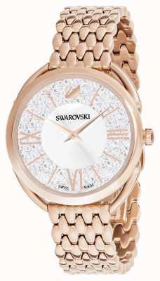 Swarovski | glam cristallino | braccialetto placcato in oro rosa | quadrante argentato 5452465