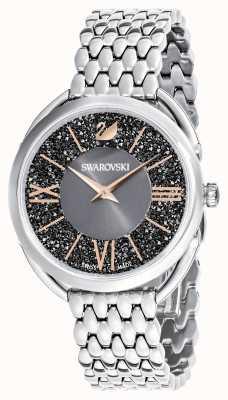 Swarovski | glam cristallino | bracciale in acciaio inossidabile quadrante grigio 5452468