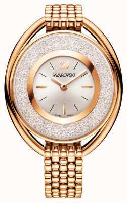 Swarovski | cristallino | ovale | bracciale placcato in oro rosa | quadrante bianco 5200341
