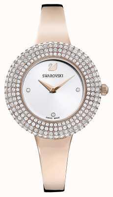 Swarovski | cristallo rosa | bracciale tono oro rosa | quadrante argentato | 5484073