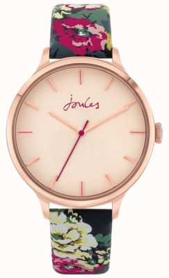 Joules '30th anniversary' | cinturino in pelle floreale | quadrante rosa | JSL028UPRG