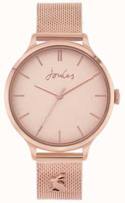 Joules Ryton | braccialetto a maglie in oro rosa | quadrante oro rosa | JSL026RGM