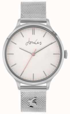 Joules Ryton | bracciale a maglie in acciaio inossidabile argento | quadrante argentato | JSL026SM