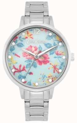 Cath Kidston Pembroke rose | bracciale in acciaio inossidabile quadrante floreale blu CKL084SM