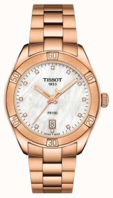 Tissot | pr 100 sport chic | bracciale in oro rosa | ex modello da esposizione T1019103311600EX-DISPLAY