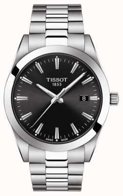 Tissot | gentiluomo | bracciale in acciaio inossidabile quadrante nero | T1274101105100