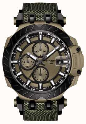 Tissot | T-Race | cronografo automatico | cinturino in caucciù verde | T1154273709100