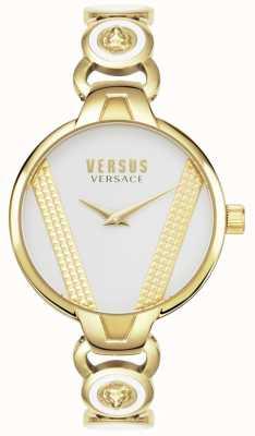 Versus Versace | saint germain | acciaio inossidabile placcato in oro | quadrante bianco | VSPER0219