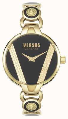 Versus Versace | saint germain | acciaio inossidabile tono oro quadrante nero | VSPER0319