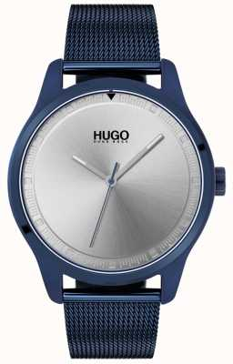 HUGO #move | braccialetto a maglie blu ip | quadrante blu | 1530045