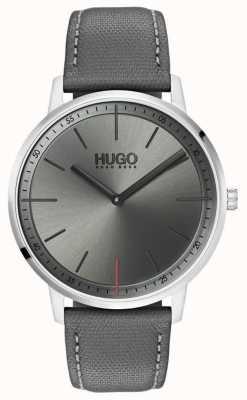 HUGO #esistere cinturino in pelle grigia | quadrante grigio | 1520009