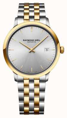 Raymond Weil | toccata maschile | acciaio inossidabile bicolore | quadrante argentato | 5485-STP-65001