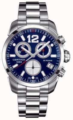 Certina Ds rookie | cronografo | quadrante blu | acciaio inossidabile C0164171104700