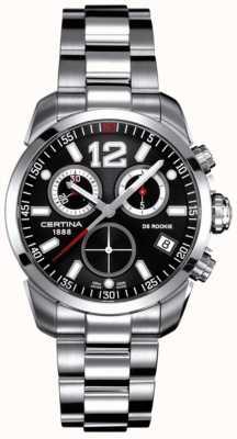Certina Ds rookie | cronografo | quadrante nero | acciaio inossidabile C0164171105700