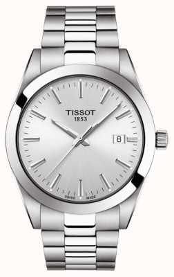 Tissot | gentiluomo | bracciale in acciaio inossidabile quadrante argentato | T1274101103100