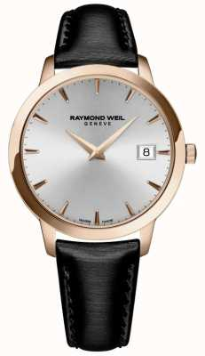 Raymond Weil Donne | toccata | cinturino in pelle nera | quadrante argentato 5388-PC5-65001