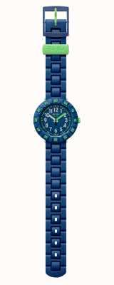 Flik Flak | solo blu scuro | cinturino in plastica blu | quadrante blu | FCSP086