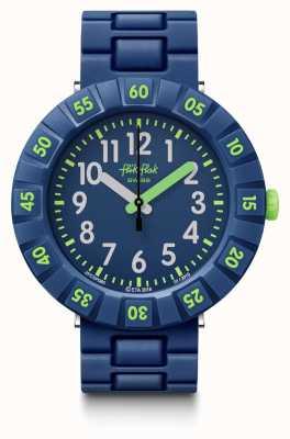Flik Flak   solo blu scuro   cinturino in plastica blu   quadrante blu   FCSP086