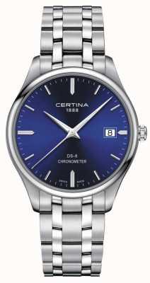 Certina Cronometro Ds-8 | bracciale in acciaio inossidabile quadrante blu | C0334511104100