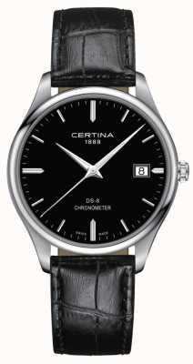 Certina Cronometro Ds-8 | cinturino in pelle nera | quadrante nero | C0334511605100