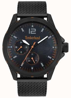 Timberland | taunton maschile | braccialetto a maglie nere | quadrante nero | 15944JYB/02MM