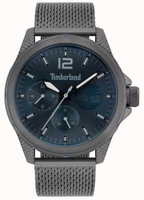Timberland | taunton maschile | bracciale a maglie grigio canna di fucile | quadrante blu | 15944JYU/03MM