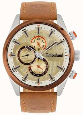 Timberland | vista da uomo | cinturino in pelle marrone chiaro | quadrante minerale | 15953JSTBN/04