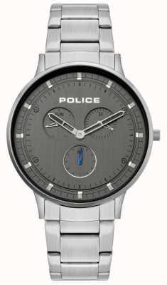 Police | berkeley maschile | bracciale in acciaio inossidabile quadrante grigio | 15968JS/39M