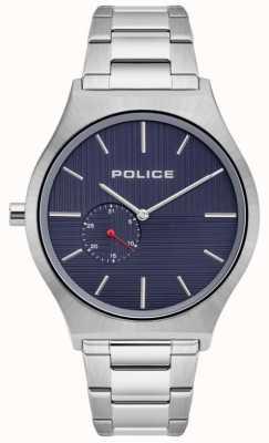 Police | orcadi maschili | bracciale in acciaio inossidabile quadrante blu | 15965JS/03M
