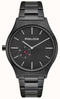 Police | orcadi maschili | cinturino in acciaio nero | quadrante nero 15965JSU/02M