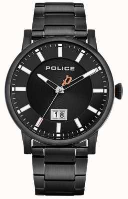 Police | colletto maschile | bracciale in acciaio nero | quadrante nero 15404JSB/02M