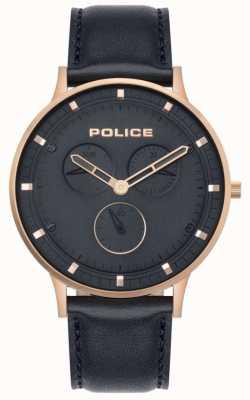 Police | berkeley maschile | pelle blu scuro | quadrante blu 15968JSR/03