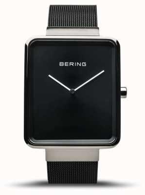 Bering | classico maschile | bracciale a maglie nere | quadrante nero | 14533-102
