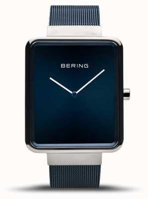 Bering | classico maschile | braccialetto a maglie blu | quadrante blu | 14533-307