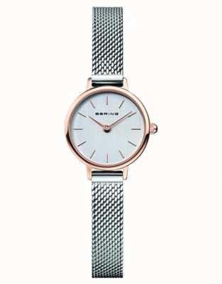 Bering | classico femminile | bracciale a maglie d'acciaio | quadrante grigio | 11022-064