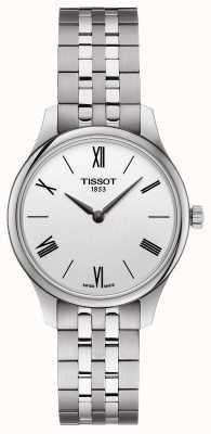 Tissot | tradizione femminile | bracciale in acciaio inossidabile quadrante argentato T0632091103800