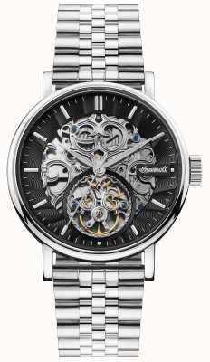 Ingersoll | il charles automatico | quadrante scheletro nero | cinturino in acciaio I05804