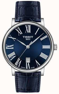 Tissot | uomo | carson premium | cinturino in pelle blu | quadrante blu | T1224101604300