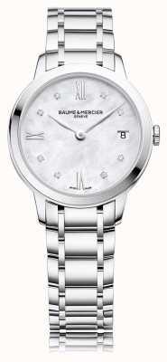 Baume & Mercier Classima diamond | bracciale in acciaio inossidabile madreperla M0A10326