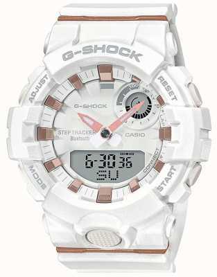 Casio | g-squad g-squad | cinturino in caucciù bianco | bluetooth intelligente | GMA-B800-7AER