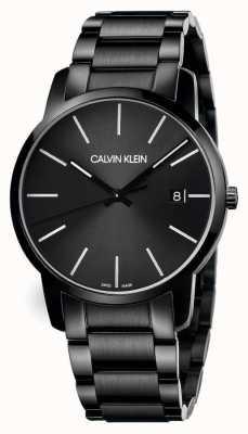 Calvin Klein | città degli uomini | bracciale in acciaio nero | quadrante nero | K2G2G4B1