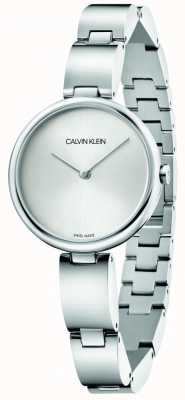 Calvin Klein | bracciale da donna in acciaio inossidabile quadrante argentato | K9U23146