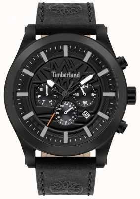Timberland Esperto di strada | cinturino in pelle nera | quadrante nero | 15661JSB/02