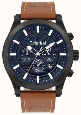 Timberland Esperto di strada | cinturino in pelle marrone | quadrante blu | 15661JSB/03