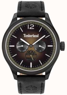 Timberland City lifestyler | cinturino in pelle nera | quadrante nero | 15940JSB/19