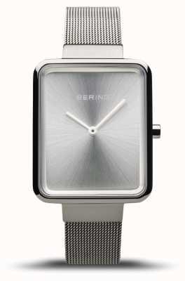 Bering Classico da donna | maglia argento lucido | quadrante argentato | 14528-000