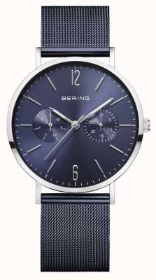 Bering | classico femminile | braccialetto a maglie blu | quadrante blu | 14236-303