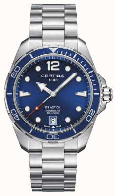 Certina | ds action | cronometro | quadrante blu C0324511104700